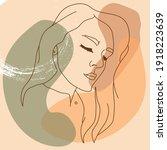 beautiful young woman modern...   Shutterstock .eps vector #1918223639