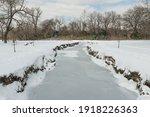 Frozen Creek Landscape View...