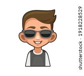 cute young man with glasses... | Shutterstock .eps vector #1918228529