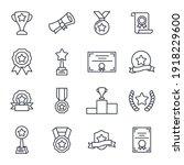 set of award icon. award medal... | Shutterstock .eps vector #1918229600