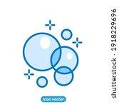 bubbles icon. soap foam  fizzy...   Shutterstock .eps vector #1918229696