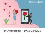 romance scam  dating scam ... | Shutterstock .eps vector #1918234223