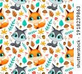 Forest Animals Seamless Pattern....