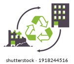 construction and demolition... | Shutterstock .eps vector #1918244516