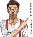 emotional bearded male has...   Shutterstock .eps vector #1918252076