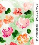 abstract pink  flowers  art...   Shutterstock . vector #1918257929