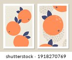 abstract art wall with fruits....   Shutterstock .eps vector #1918270769