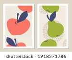 abstract art wall with fruits....   Shutterstock .eps vector #1918271786