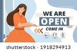 reopening of small businesses... | Shutterstock .eps vector #1918294913