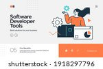 landing page template of...