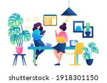 planning the work of the... | Shutterstock .eps vector #1918301150