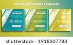 set of social media post... | Shutterstock .eps vector #1918307783