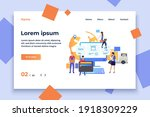 team of online store working... | Shutterstock .eps vector #1918309229