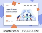 surgeons team surrounding... | Shutterstock .eps vector #1918311620