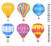 bright colorful air balloon...   Shutterstock .eps vector #1918315316