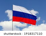 Russia flag isolated on the...