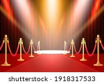 red background with carpet ...   Shutterstock .eps vector #1918317533
