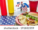 loaded cheeseburger with potato ... | Shutterstock . vector #191832359