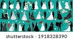 illustration with wedding... | Shutterstock .eps vector #1918328390