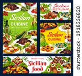 sicilian restaurant food vector ...   Shutterstock .eps vector #1918336820