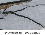 layer of broken asphalt road at ... | Shutterstock . vector #191833838
