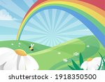 rainbow. background  with... | Shutterstock .eps vector #1918350500