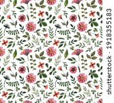 delicate pressed floral... | Shutterstock . vector #1918355183