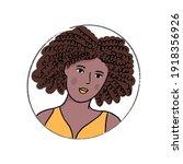 african american woman doodle... | Shutterstock .eps vector #1918356926