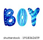 watercolor hand painted letters ...   Shutterstock . vector #1918362659