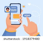 vector concept of successfully... | Shutterstock .eps vector #1918379480