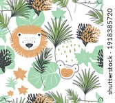 seamless pattern  with jungle...   Shutterstock .eps vector #1918385720