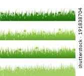 grass and plants detailed...   Shutterstock .eps vector #191838704
