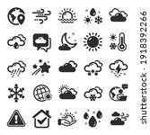 weather and forecast icons.... | Shutterstock .eps vector #1918392266