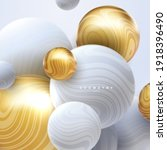 abstract background with 3d... | Shutterstock .eps vector #1918396490