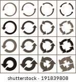 sixteen rotate arrow icon sign. ... | Shutterstock .eps vector #191839808