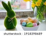 White Bowl With Colored Easter...