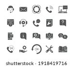 help and support glyph icon set.... | Shutterstock .eps vector #1918419716