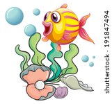 illustration of a colorful fish ... | Shutterstock .eps vector #191847494