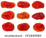collection of dried red cherry... | Shutterstock . vector #191849084