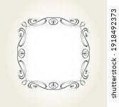 elegant floristic square vector ... | Shutterstock .eps vector #1918492373