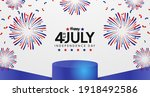 4th july american independence... | Shutterstock .eps vector #1918492586