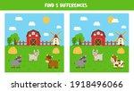 find five differences between... | Shutterstock .eps vector #1918496066