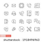 help and support line icon set. ... | Shutterstock .eps vector #1918496963
