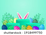 happy easter theme product... | Shutterstock .eps vector #1918499750
