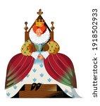 medieval queen in dress and... | Shutterstock .eps vector #1918502933