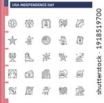 usa independence day line set... | Shutterstock .eps vector #1918519700