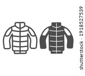 winter jacket line and solid... | Shutterstock .eps vector #1918527539