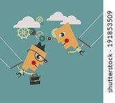 trapeze venture   Shutterstock .eps vector #191853509