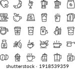 food line icon set   hot cup ... | Shutterstock .eps vector #1918539359