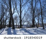 winter countryside landscape... | Shutterstock . vector #1918540019